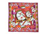 エルメス/スムーズカレ スカーフ 【Chevaux de Karnac (カルナック神殿の馬)】【SALE】