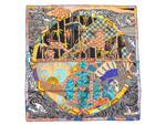 エルメス/カレ90 スカーフ 【EX-LIBRIS EN KIMONOS (キモノ・エクスリブリス)】(ソルド品)【SALE】