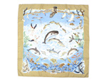 エルメス/カレ90 スカーフ 「Lavie Precieuse de la Mediterranee (地中海の貴重な生命)」