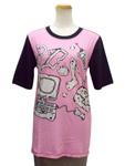 モスキーノ/イラストプリントコットンTシャツ