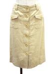 バナナリパブリック/リネンボタンスカート