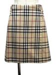 バーバリー ロンドン/チェック柄リバーシブルスカート