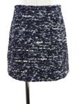 ブルーガール/ニットツイード台形スカート