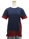 マークバイマークジェイコブス/バイカラー花柄Tシャツ